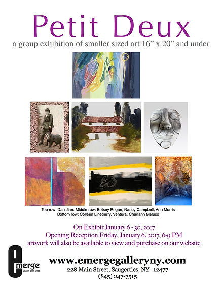 """Petit Deux: A Group Exhibition of Smaller Sized Art 16"""" x 20"""" and Under"""