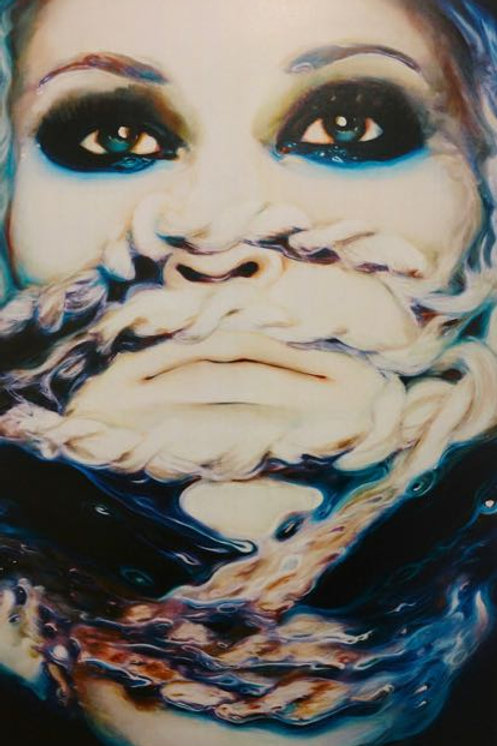 """""""Woman In Blue"""" Suzanne Anan"""