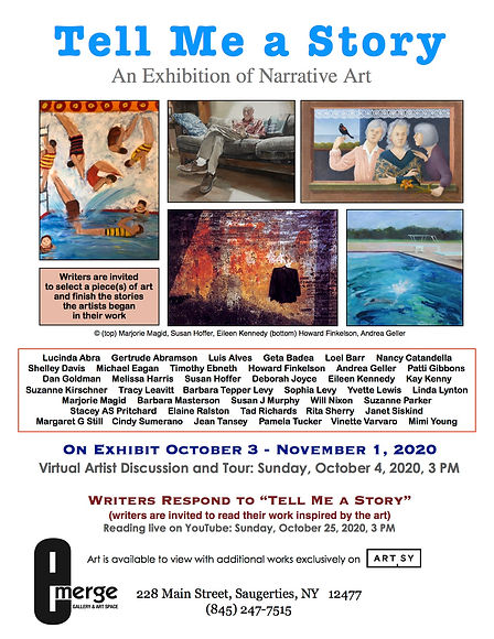 Emerge Gallery_OCT Tell me a Story_flier