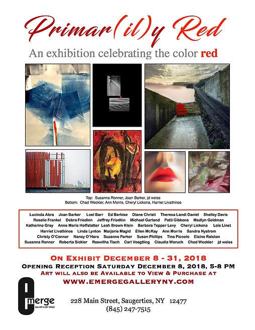 Emerge Gallery_Primarily Red_Dec 2018_JP