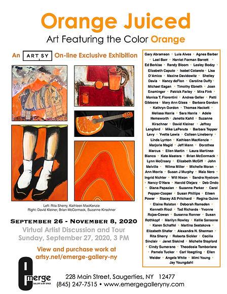 Emerge Gallery_OCT_Orange Juiced flier.j