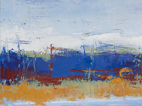"""""""Blue & Rust"""" Jerry Teters"""