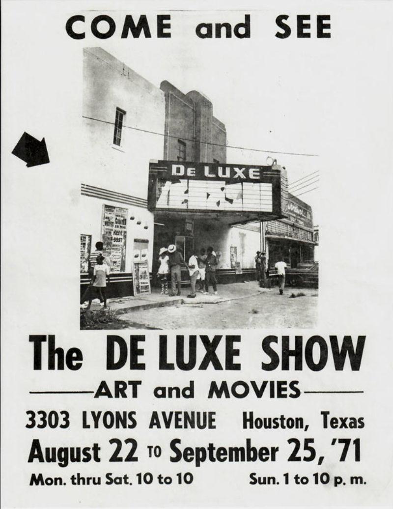 The DeLuxe Show Houston, 1971 (photo DeMenil Foundation)