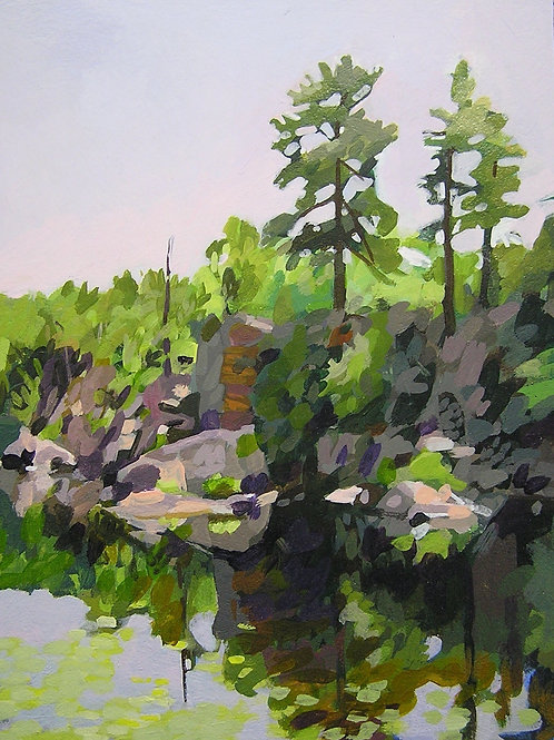 """Sanctuary Pond, Slabside"" BruceBundock"