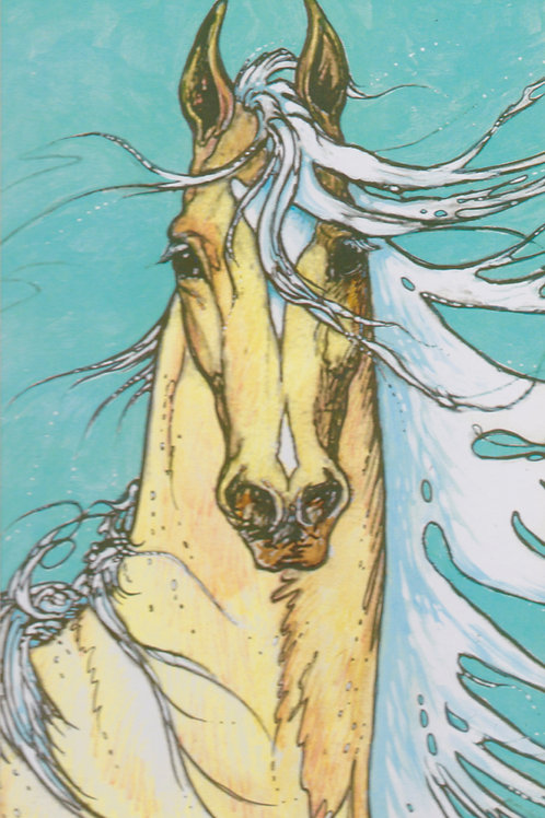 """""""Blowing Mane Horse"""" Jean Haines"""