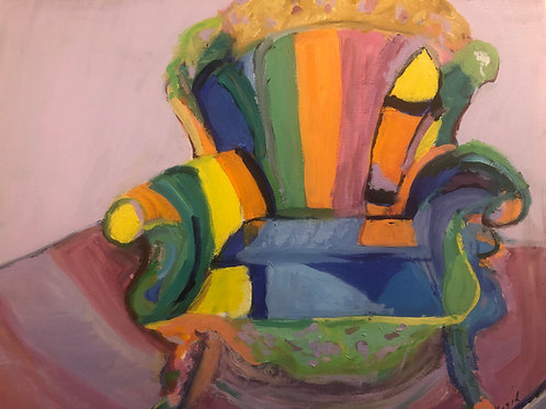 """Rainbow Chair"" Marjorie Magid"