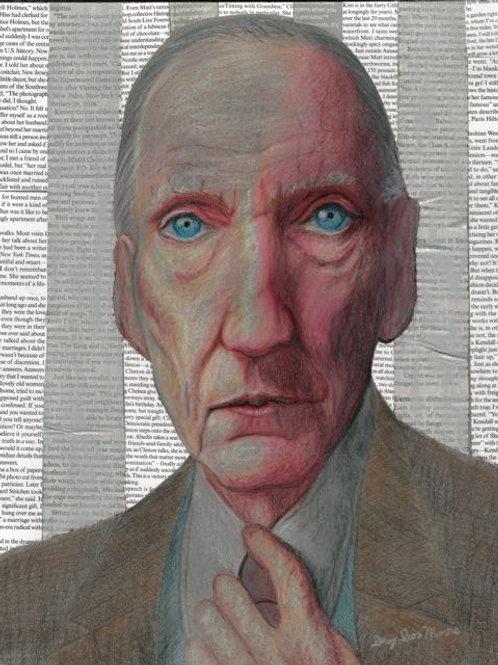 """""""William S. Burroughs"""" Grey Ivor Morris"""