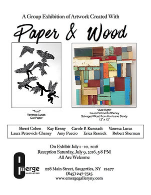 A Group Exhibition of Artwork Created with Paper and Wood