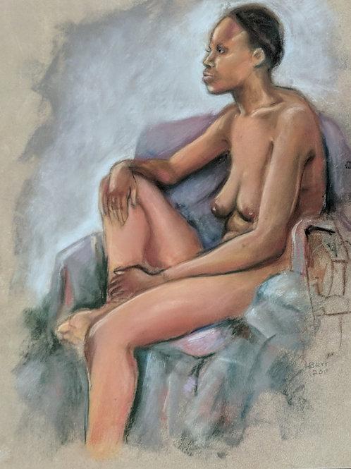 """""""Seated Nude"""" Loel Barr"""