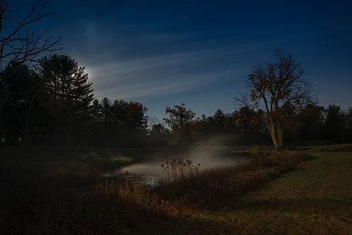 """Full Moon at Thorn Preserve, Woodstock (framed)"" Kay Kenny"