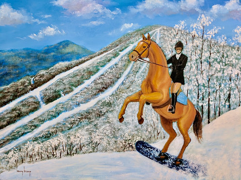 """""""Snowboarding at Wyndham Mountain"""" Kristy Bishop"""