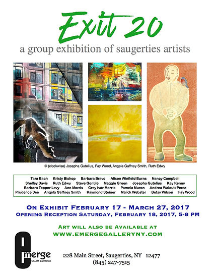 Exit 20: A Group Exhibition of Saugerties Artists