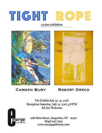 Tight Rope A Joint Exhibition: Carmen Bury and Robert Greco