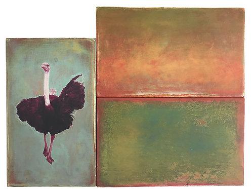 """""""Landscape with Emu"""" Bill Rybak"""