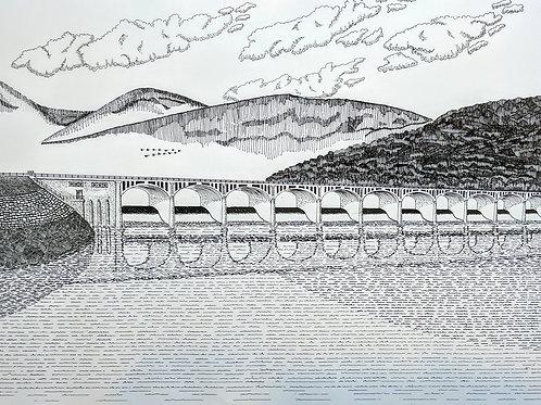 """Ashokan Dividing Weir Bridge"" Jeffrey Helmuth"