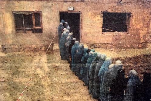 """""""Women Waiting to Vote, Iran"""" Elizabeth Shafer"""