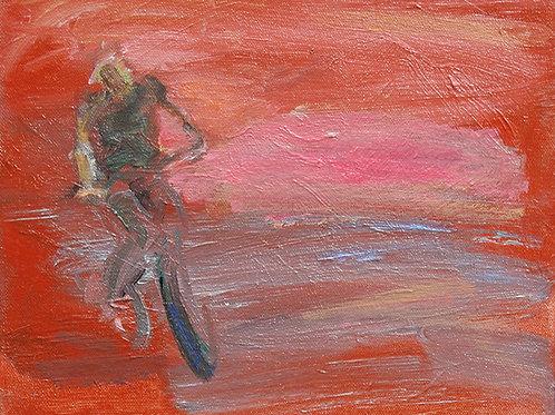 """Red Bicyclist"" Andrea Geller"