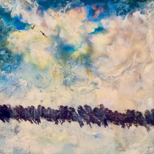 """""""Migration of the Starlings""""  Maria Kolodziej-Zincio"""