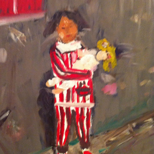 """""""Chinese Girl with Doll"""" Marjorie Magid"""
