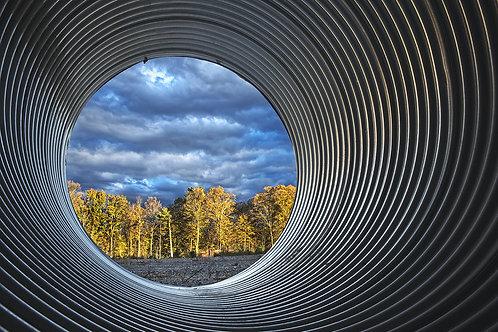 """""""View Through a Culvert"""" Ken Tannenbaum"""