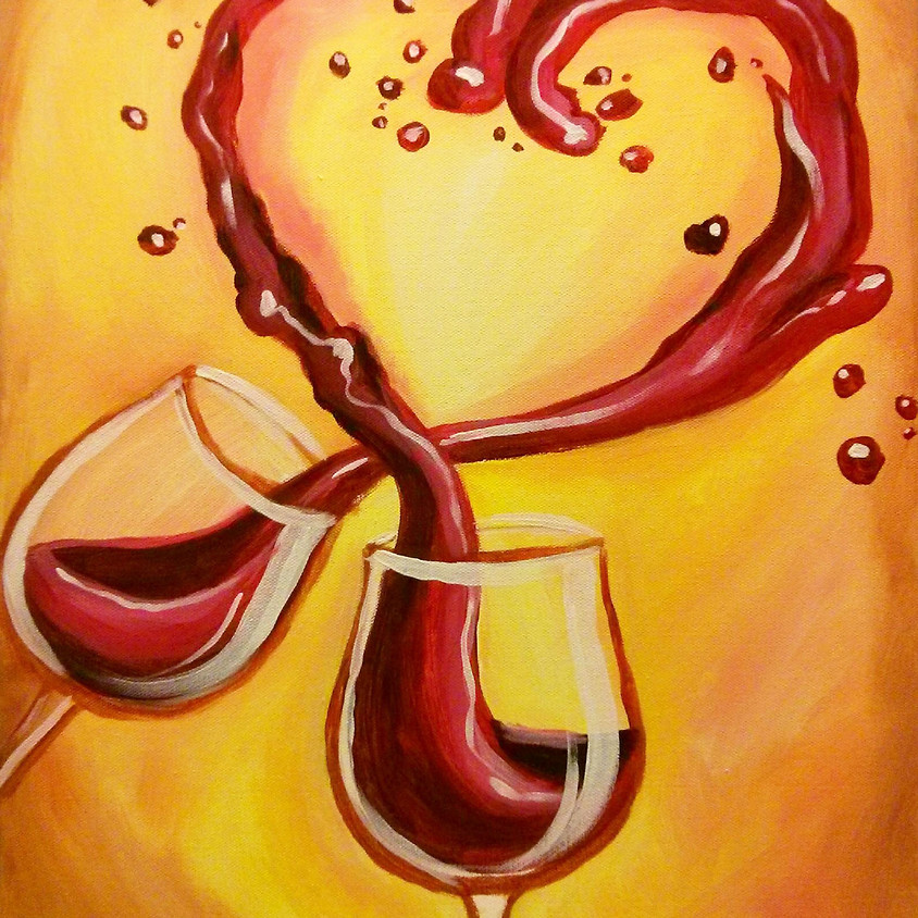 Valentine's Day Sip-N-Paint Event (1)