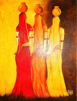 oil-painting-of-rural-women-carrying-water-500x500