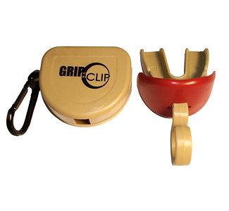 Single GNC Sports Mouthpiece w/o strap, lip guard and storage case (Vegas Gold)