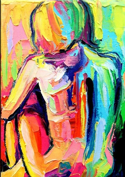 Nude-Women-Canvas-Oil-Art-Painting-Hand-