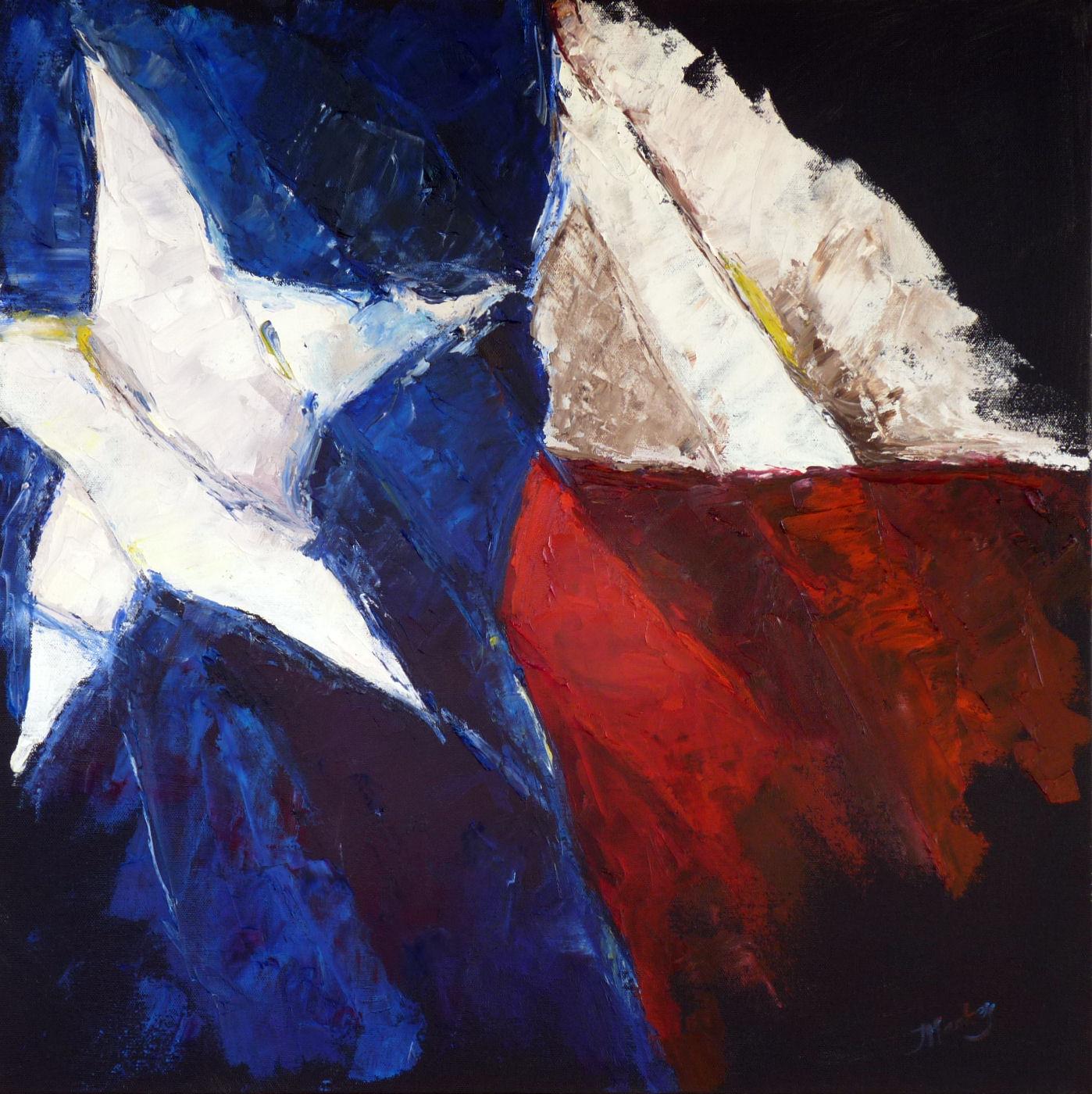 21613 Texas Star 24 x 24 x 15 oil on canvas