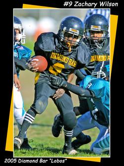 Zach Football Poster3x4