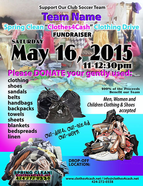 Clothing Drive Fundraiser Flyers Templates