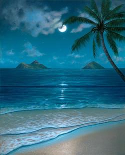 Hawaii-Paintings-Mokulua-Moon-Bow