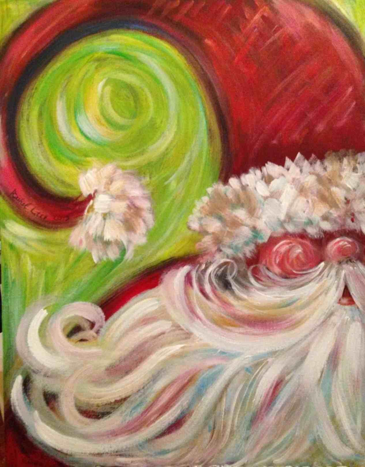 santa-Christmas-Canvas-Painting-Ideas-Sa