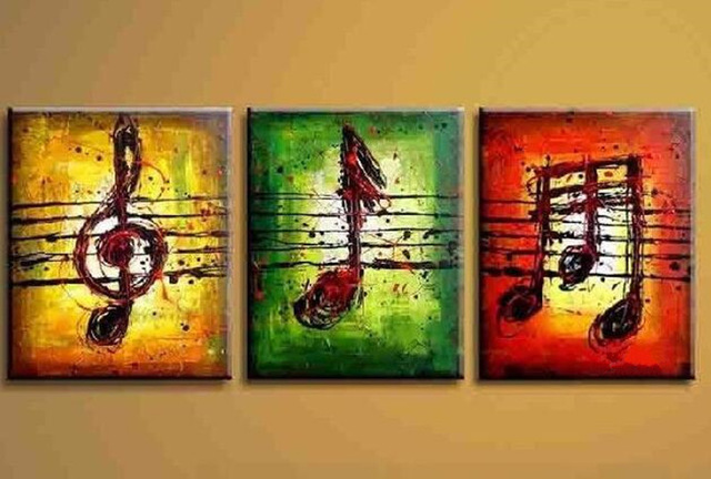 Handmade-Paintings-Hand-Painted-Colorful-Music-Note-Art-Oil-Painting-Modern-Abstract-Canvas-Decorati