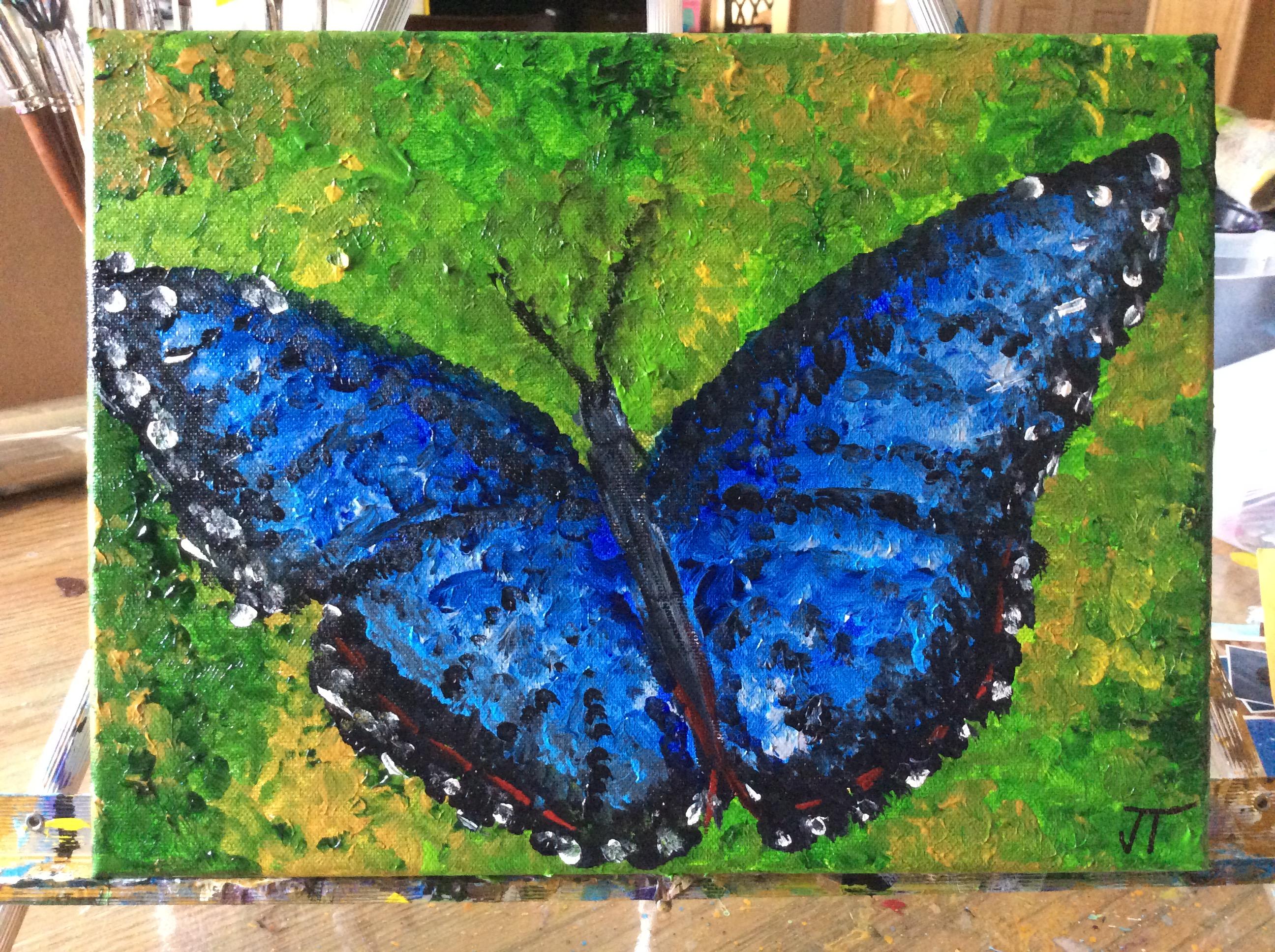 blue-black-butterfly