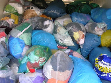 Bags of Clothing Donation