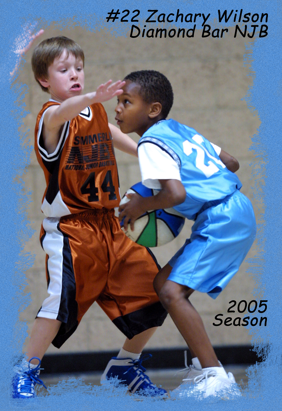 Zach Basketball Poster3x4