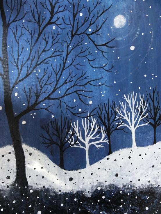 Kids-Paint-Winter-Nights