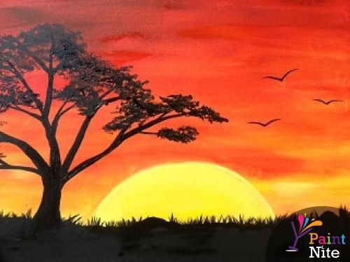 Best Canvas Painting Collection Canvas Painting Sunset Scenery