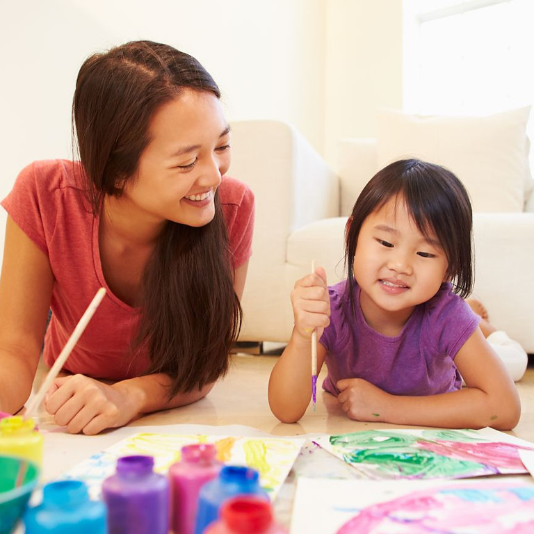 """Mommy & Me """"Paint, Pizza & Punch"""" California Pizza Kitchen"""