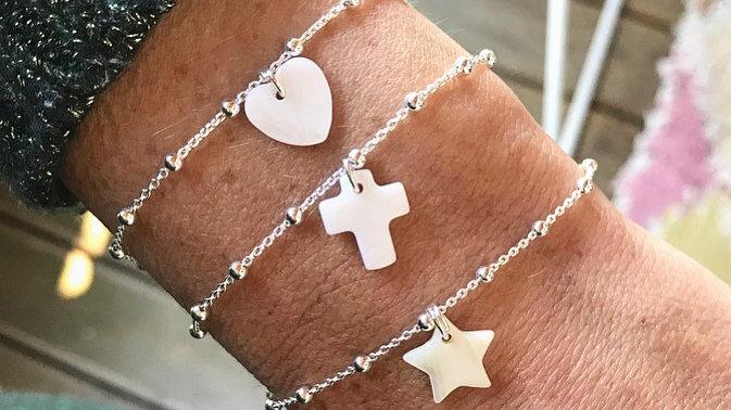 Bracelet argent 925 charm au choix