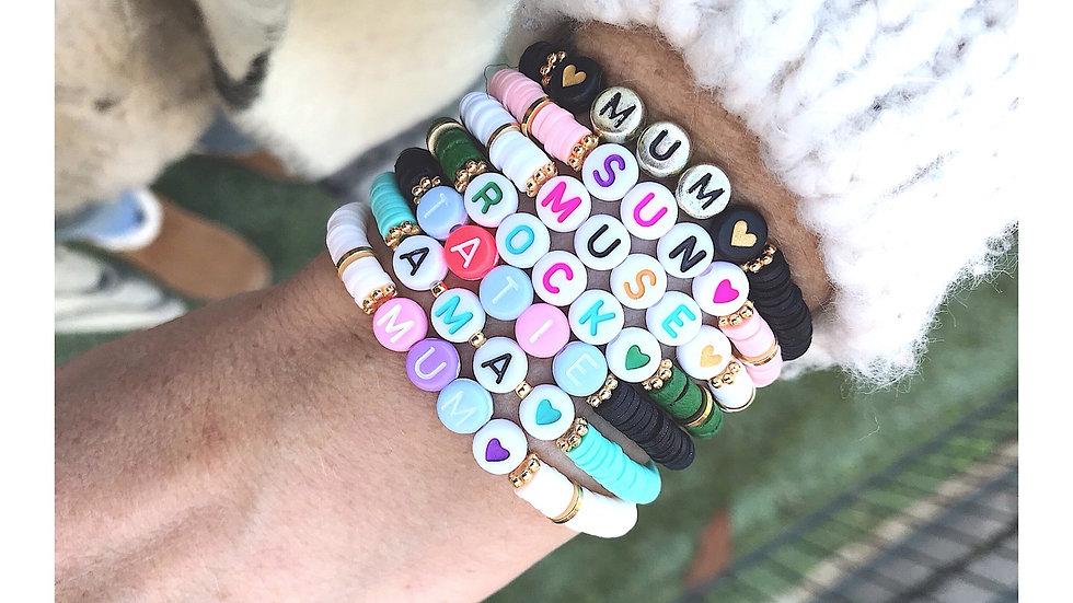 Bracelet lettrine