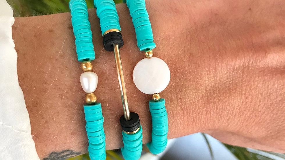 Bracelet heishi tube or