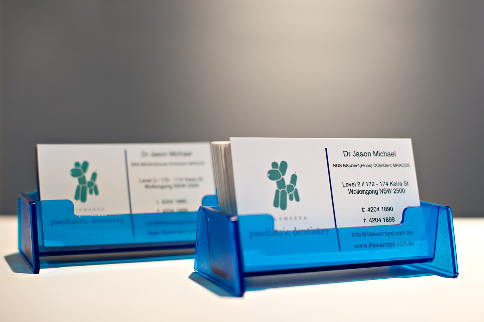 paediatric dentist business cards