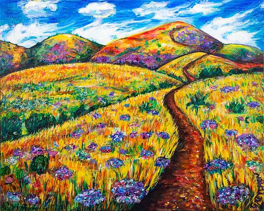 Purple Flower Mountains