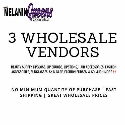 3 Wholesale Vendors