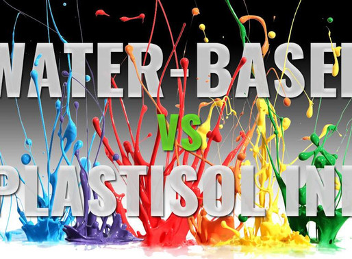 Plastisol ink vs water based ink