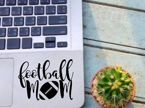 Football Mom Football Decal
