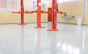 solid color garage epoxy