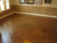 Concrete Stain trowel finish